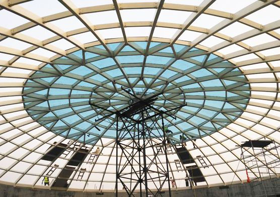 Nigeria Prefab Steel Structure Church Dome Roof