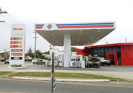 Steel Structrue Canopy Gas Station in Australia Liberty