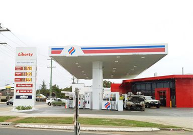 Steel Structrue Canopy Gas Station in Australia Liberty