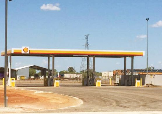 Australian Shell Gas Station Steel Roof