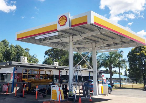 Australian Small Gas Station Steel Structure Canopy