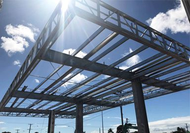 Bolt Joint Modular Building Gas Station Canopy in Australia