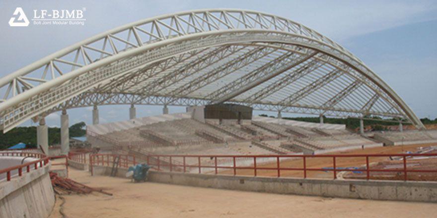 stadium bleacher roof,stadium canopy,space truss canopy