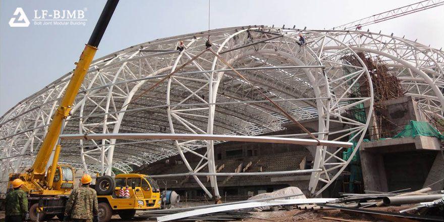 light steel truss swimming pool structure