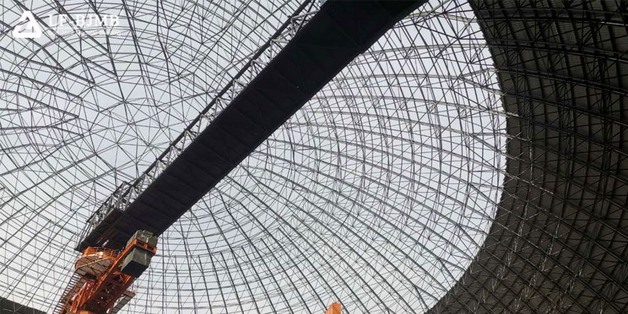 large span space frame dome roof dry coal shed