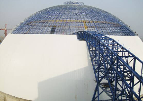 Large Span Space Frame Power Plant Dome Coal Storage(2 sets)