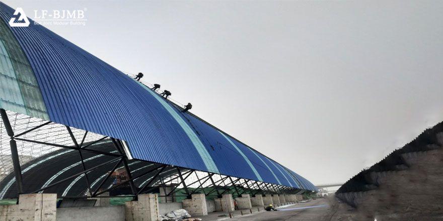 prefab light steel space frame roof