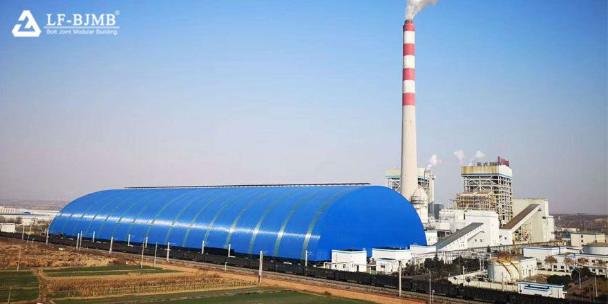 light steel space frame dry coal shed