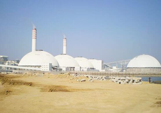 Dome Coal Storage System of Zhangzhou Houshi Power Plant (7 sets)