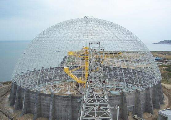 Dome Coal Storage System of Zhangzhou Houshi Power Plant (7 sets)