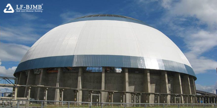 coal storage shed dome roof of coal power plant