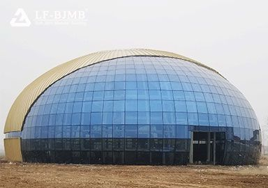 Fabrication and Installation of Trusses Glass Dome Roof Exhibition Hall