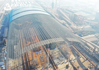 Fully Enclosed Steel Space Frame Structure Raw Material Yard Storage Project