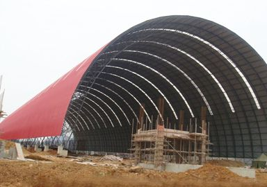 Prefab Barrel Space Frame Cement Plant Storage Shed