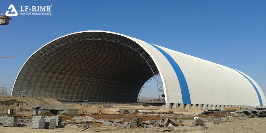 Long Span Space Frame Coal Storage Yard Power Plant Project