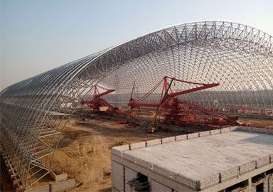 Thermal Power Plant Coal Storage Shed Space Frame Roofing Project