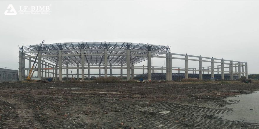 Fast Install Steel Space Frame Stadium Structure