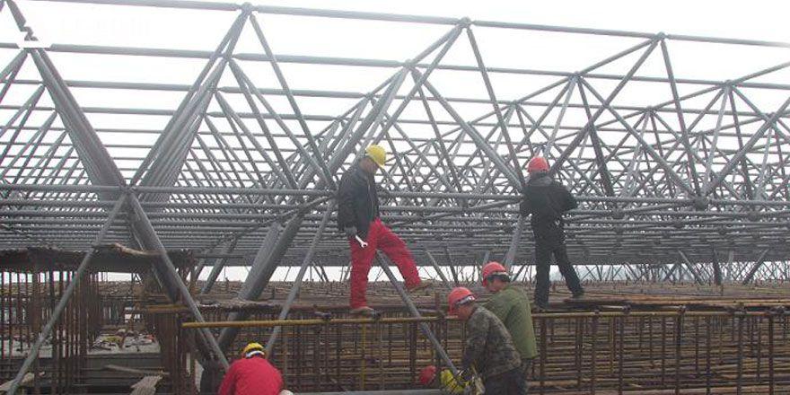 light space frame stadium roof system