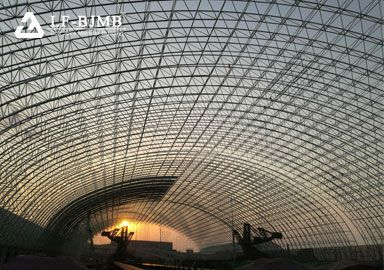 Large Span Space Frame Structure Barrel Dry Coal Storage Shed Project