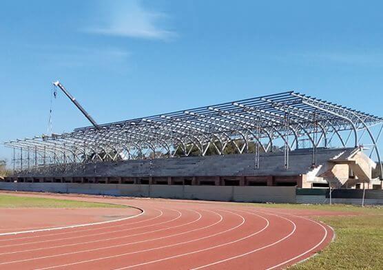 Philippine Oval Bleachers Steel Truss Project