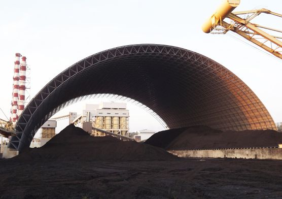 Philippine 2X135MW Power Plant  of Coal Storage Space Frame Project