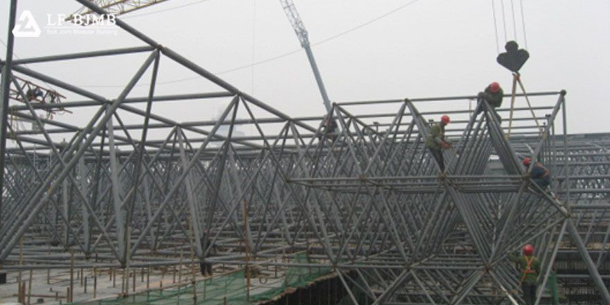 light steel space frame roof structure
