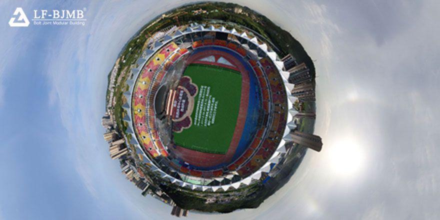 Steel Space Truss Sports Center Stadium Canopy