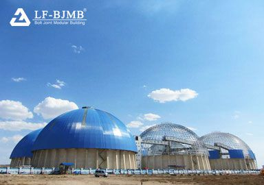 Prefab Large Span Space Frame Dome Coal Storage Shed Structure