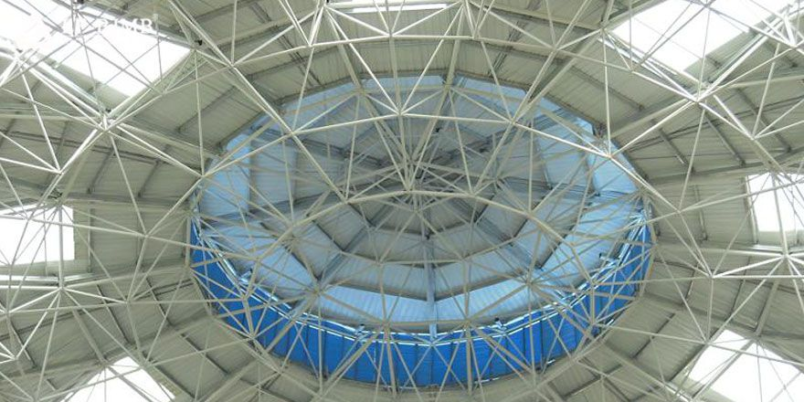 prefab space frame structure dome roof