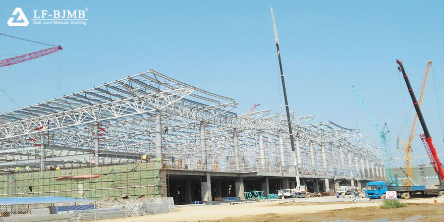 steel structure roof airport building