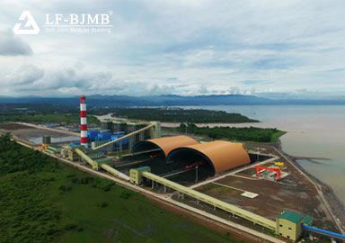 Space Frame Construction Dry Coal Shed for 3×135MW Coal-fired Power Station in Philippines