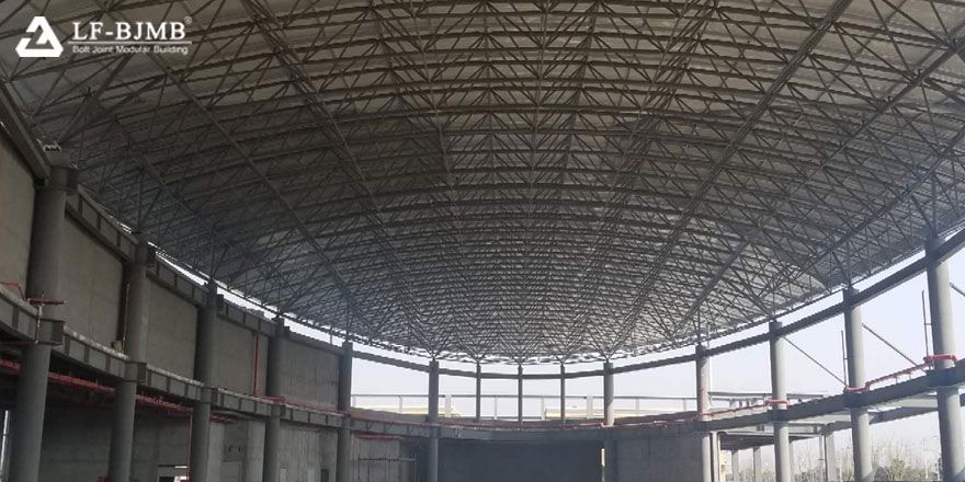 fast installation space frame building roof