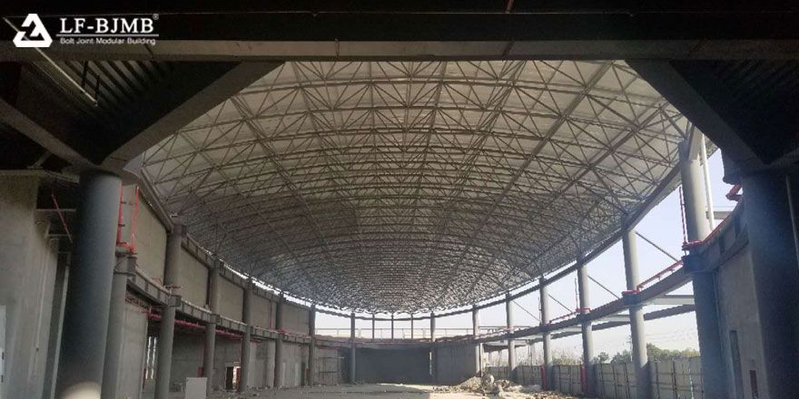 bolt joint  ball space frame structure roof