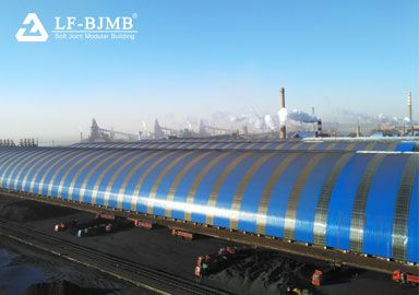 Light Steel Structure Space Frame Raw Material Storage Shed Project