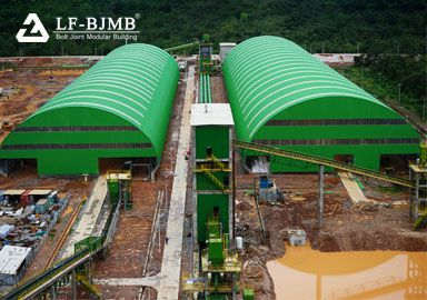 Thailand Clinker Cement Production Line Storage Shed Space Frame Project