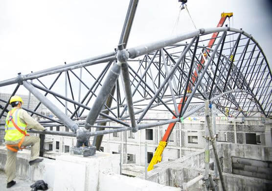 The World's Largest Steel Space Frame Structure Church Auditorium (Hand of God Cathedral )