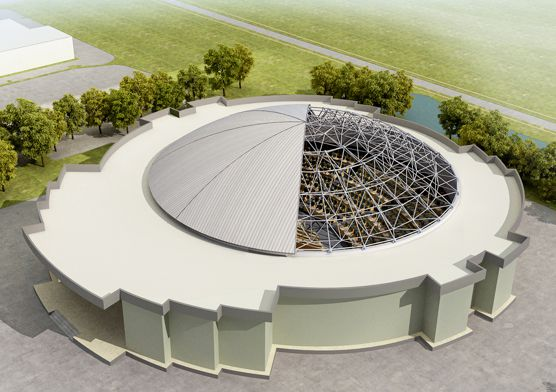 Togo Dome Space Frame Conference Hall