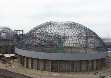 Prefabricated Space Frame Dome Silo Storage Roof System