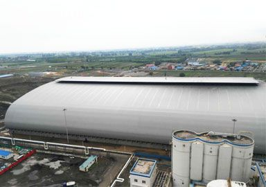 Thermal Power Plant Large Span Space Frame Coal Storage Shed