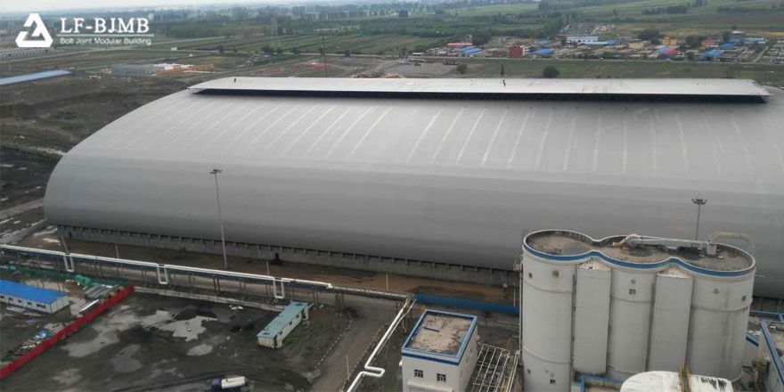 prefab space frame barrel coal shed