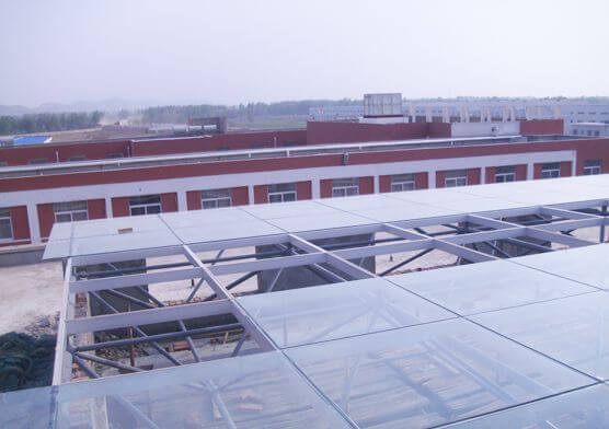 Huaibei Mining Group Surveying & Mapping Center Hall Space Frame Canopy