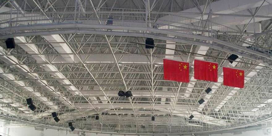 Space Frame Sports Center Gymnasium Roof Structure