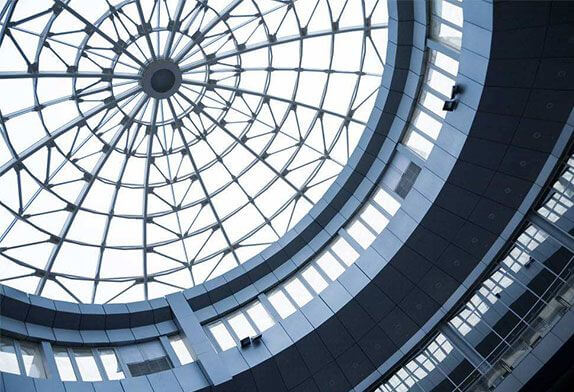 The glass roof has become an important element of architectural aesthetics