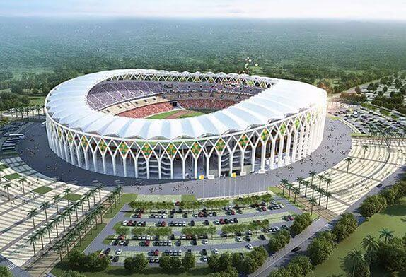 Why are the big stadiums in the open