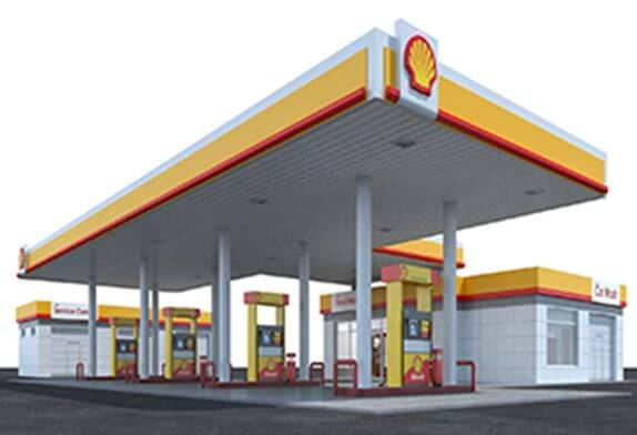 Why are the steel structure ceilings of gas stations mostly flat roofs