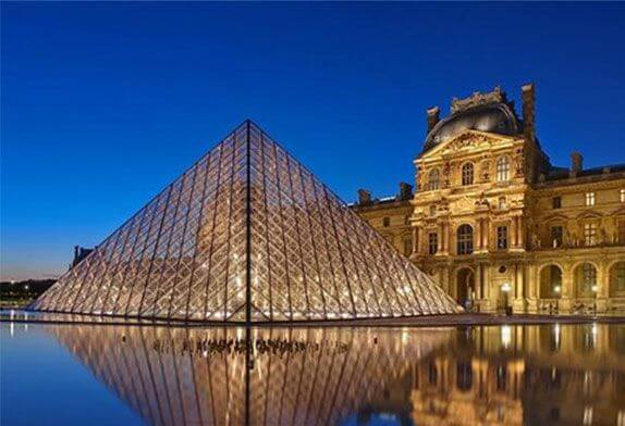 Advance design truss structure (Glass pyramid - Louvre pyramid)