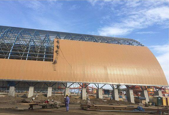 The wind resistance and heat preservation of the space frame structure