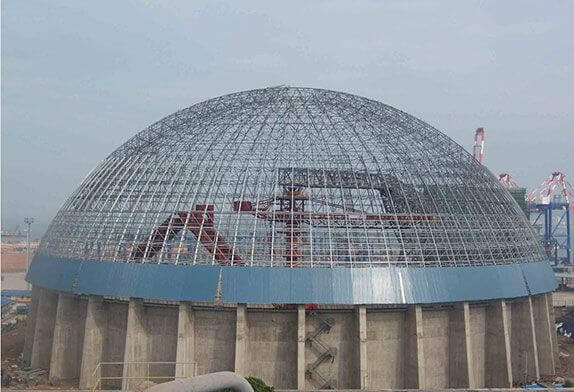 Spherical space frame structure inspection scheme
