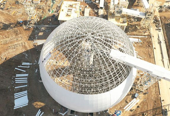 The space frame is a good structural product