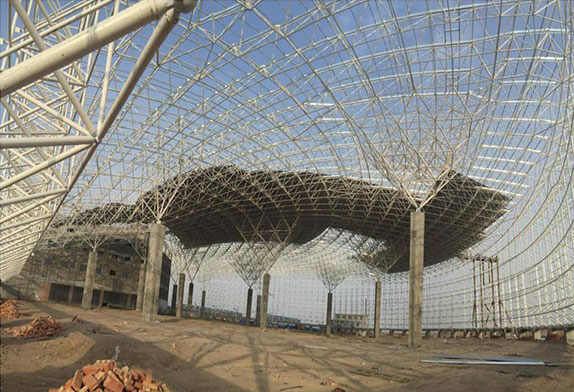The space frame processing is all composed of cold-formed thin-walled steel component system
